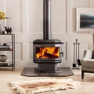 Saxon Rosewood Freestanding Fire