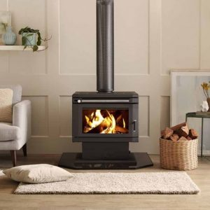 Saxon Blackwood Freestanding fire